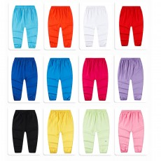 Boy Pants Silk Stylish Design Anti-Mosquito Elastic Cotton for Children Summer Thin Lantern Pants Harem Pants