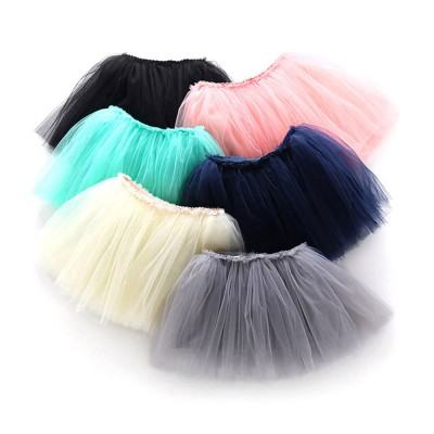 Mesh Princess Style Half-length Skirt for Girls Spring & Summer Short Yarn Skirt for 3-8 Years Girl