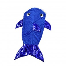 Kids Shark Sleeping Bag Flannel Material Swaddling Cloth Anti Kick Quilt Wind Portable for Baby Bunting