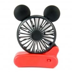 Mini Mickey Foldable Fan ABS Material USB Charging Seven Blades Ventilator Mickey Modeling Portable Fan Summer