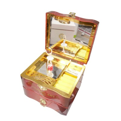 Classic Retro Style Dancing Girl Musical Box as Gift for Children or Girls, Clockwork Musical Box Creative Storage Box with Playing Music Jewelry