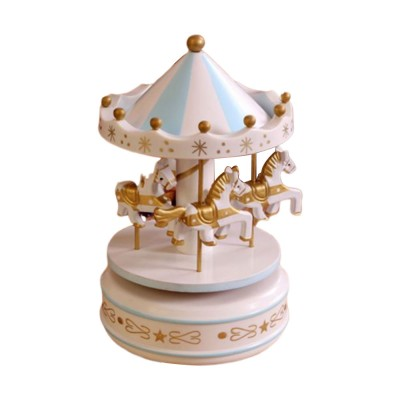 Wood-made Carousel Music Box Multiple Style Whirling Musical Box Gift or Decorative Ornaments for Household Use Craft