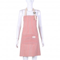 Fashionable Buckle Five Color Stripe Apron Household Used Daily Kitchen Pinafore Antifouling 