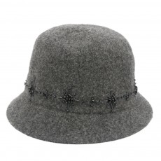 British Style Thermal Bucket Hat for Women Autumn Winter Wool-made Vintage Top Hat