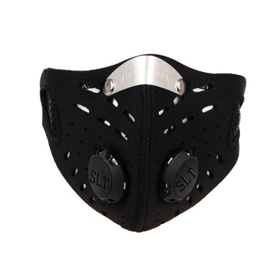 Activated Carbon Facial Mask for Outdoor Bicycle Riding Filter Element Replaceable Mouth-muffle Nose Clamp Design Anti-dust & Anti-smog Respirator