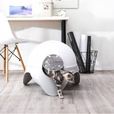 Space Capsule Cat Box, Totally Enclosed Space Capsule Extra Large Toilet for Cats Splash-proof Deodorization