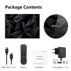 HK1 Mini + Android 9.0 TV Box 4G 128G Lastest RK3318 Quad Core 4K 2.4G 5G ...