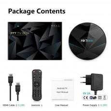 HK1 Mini + Android 9.0 TV Box 4G 128G Lastest RK3318 Quad Core 4K 2.4G 5G Wifi Bluetooth USB 3.0 Smart Set Top Box With Remote FCC CE Rohs