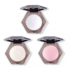 Superior Highlighting Powder, Popular Bright Makeup Powder Stereoscopic Facial Long-Lasting Powder Disc With Mirror