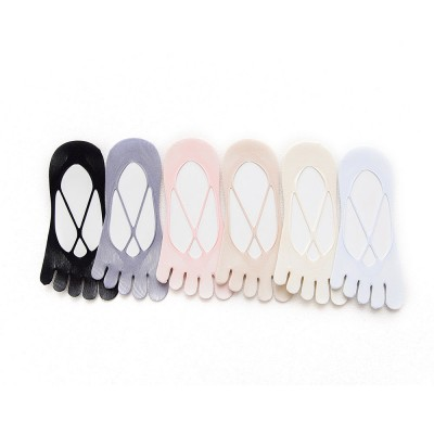 Girls Mesh Toe Socks with Hollowing out Nylon, Ventilation Overlapping Boat Socks for Spring & Summer