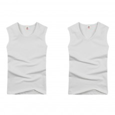 Bodybuilding Summer Cotton Fabric Bottoming Underwear Large Size Gym Sports Proof Wide Shoulder Sleeveless Vest for Men