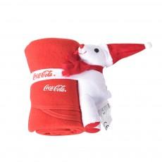 2 in 1 Blanket Christmas Santa Hat Doll Flannel Baby Blankets Fleece Blankets Children's Cartoon Thick Plush Toy