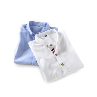 Mens Linen Shirt Short Sleeve Banded Collar Casual Shirts Regular Fit Button Down T-shirts
