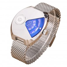 Creative Watch for Men Student Watch with Imported Quartz Movement Breathable Mesh Steel Watchband