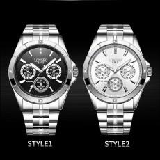 Waterproof 30M Couple Quartz Watch with Steel Band for Men & Women, Quartz Watch for Lovers
