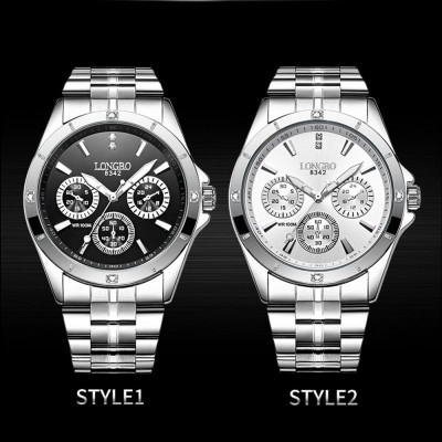 Waterproof 30M Couple Quartz Watch with Steel Band for Men & Women, Quartz Watch for Lovers