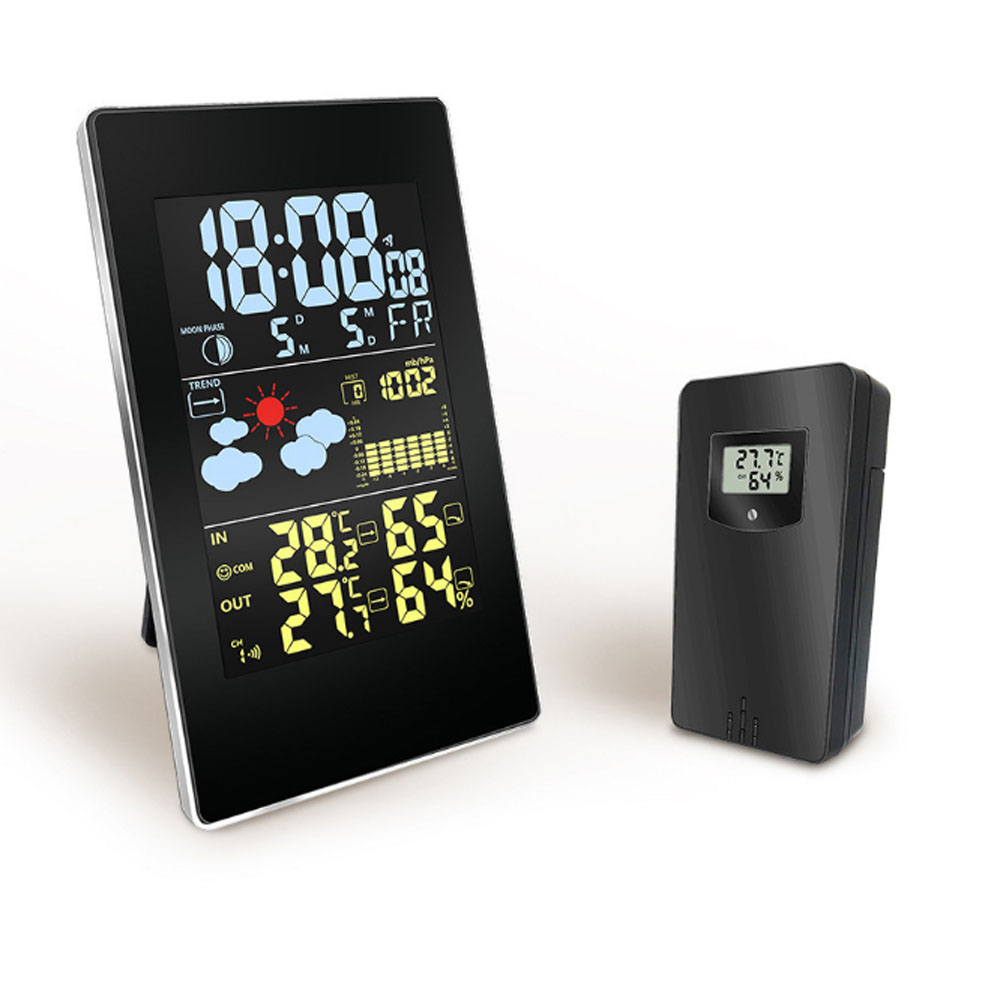 Wireless Color Weather Station Multi-functional Weather Forecast Clock Temperature & Humidity Electronic Alarm Clock
