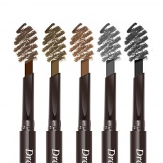 Double-Head Rotated Eyebrow Pencil, Waterproof Eyebrow Pencil, Eyebrow Pencil with a Brush NOVO 5 Colors Available