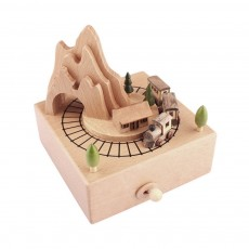 Creative Roller Coaster Wooden Music Box, Hand-made Wood Ware, Gifts Presents Ideal for Girlfriend Children Kids