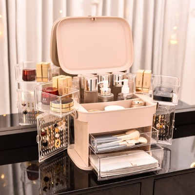 Rotating Cosmetic Storage Case Jewelry