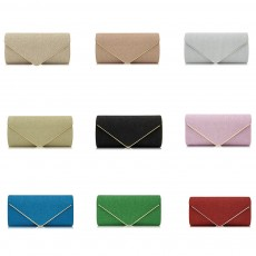 Evening Bag Lining Clothe Material Elegant Clutch for Dinner Women Shiny Envelope-bag Good-looking Handbag
