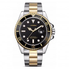 Men's Luminous Watch With 316L High Quality Stainless Steel Strap Crystal Hardness Glass Calendar Quartz Movement