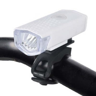 Mountain Bike Headlight Lamp ABS Material Trumpet USB Rechargeable Waterproof Lightweight Burner Three-speed Light Portable Headlight for Bicycle