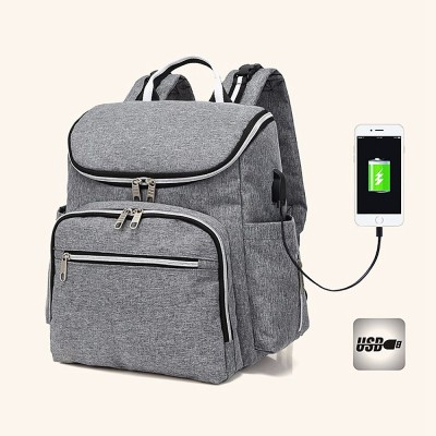 Multi-functional Diaper Backpack Large Soft Durable Capacity Backpack with USB Port for Mom & Dad