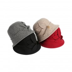 Woollen Bucket Hat for Women, Thickened Hat for Autumn & Winter Fashionable Warm Fisherman Hat