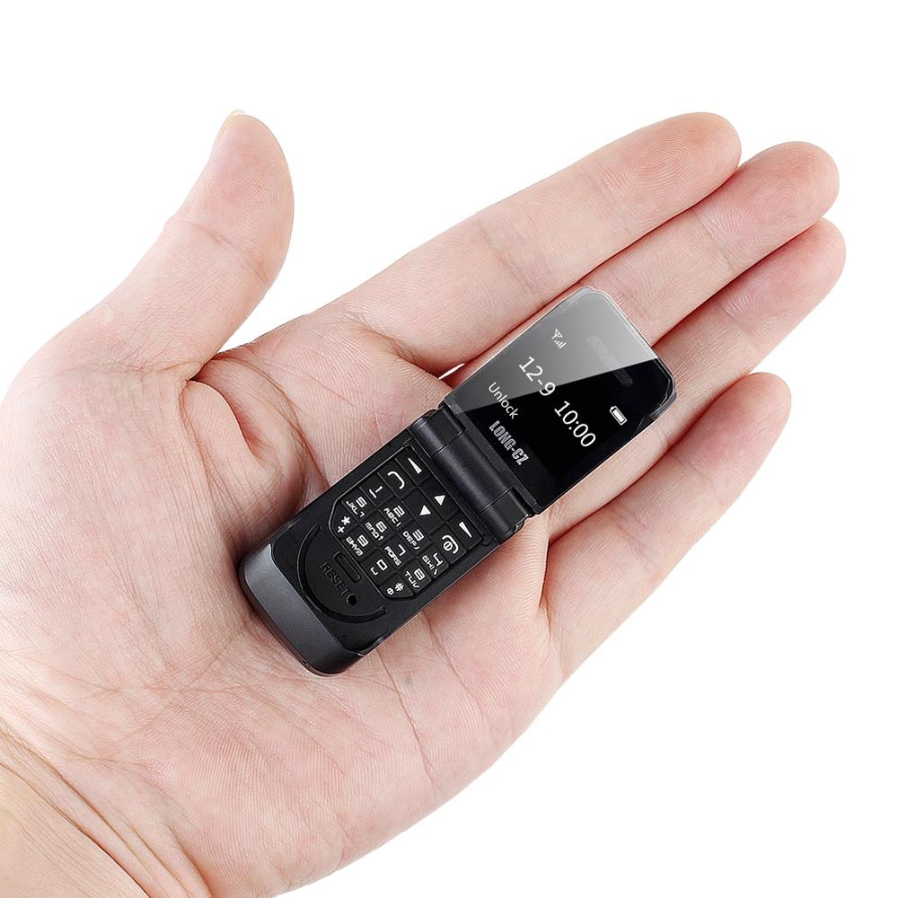 Tinkleo J9 Mini Bluetooth Flip Phone with 0.66 Inch Screen HD Screen FM MP3 Clock Magic Voice