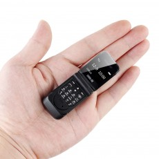 Tinkleo J9 Mini Bluetooth Flip Phone with 0.66 Inch Screen HD Screen FM MP3 Clock Magic Voice