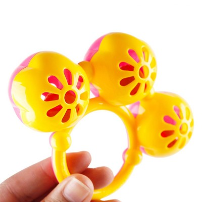 Early Education Rattle Toy for 3-12 Months Babies, Eco-friendly ABS Intelligence Shaker Bell Toys