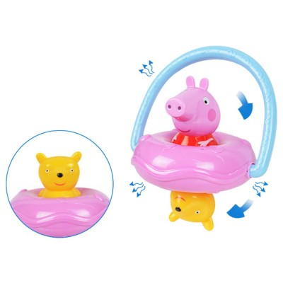 Peppa Pig UFO Shape Shaker Toy for Babies, Early Education Eco-friendly ABS Toy Rattle with Soft Sound 360° Rotation Rattle