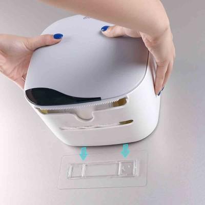 Bathroom Tissue Box, Punch-free Roll Paper Storage Box, with Convenient Type Spring Lock Design