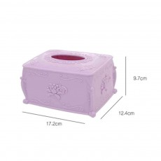 Lace Plastic Tissue Box, Household Elegant Napkin Storage Box, with Three-dimensional Rose Design