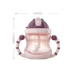 Leak-proof Baby Feeder, PP Water Cup with Handle, Anti-drop Kindergarten Baby Straw Bottle