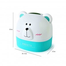 Polar Bear Environment-friendly PP Roll Paper Box, Bathroom Tissue Container, with Delicate Bear Appearance
