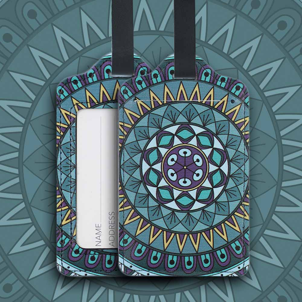 Colorful Special Pattern Luggage Tag, Selected PU Material Baggage Card for Traveler with Colorful Special Pattern