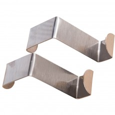 Over Door Hook Stainless Kitchen Cabinet Clothes Hanger Organizer Holder 2PCS