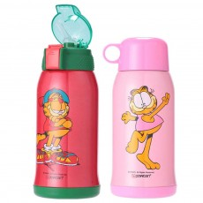 Stainless Steel Vacuum Cup for Children's use with Sucker Baby Girl Water Cup Dual Purpose Water Bottle for Kindergarten Babies and Pupils Water Kettle