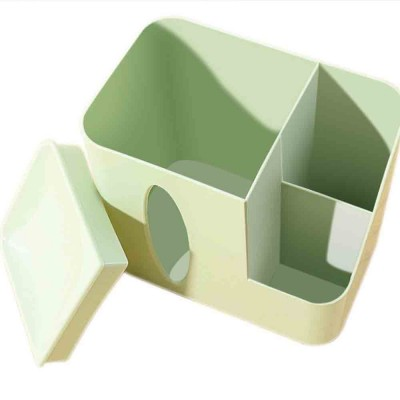 Environmental Protection Storage Tissue Box, Creative Literary Tissue Box, with Elliptical Opening Design