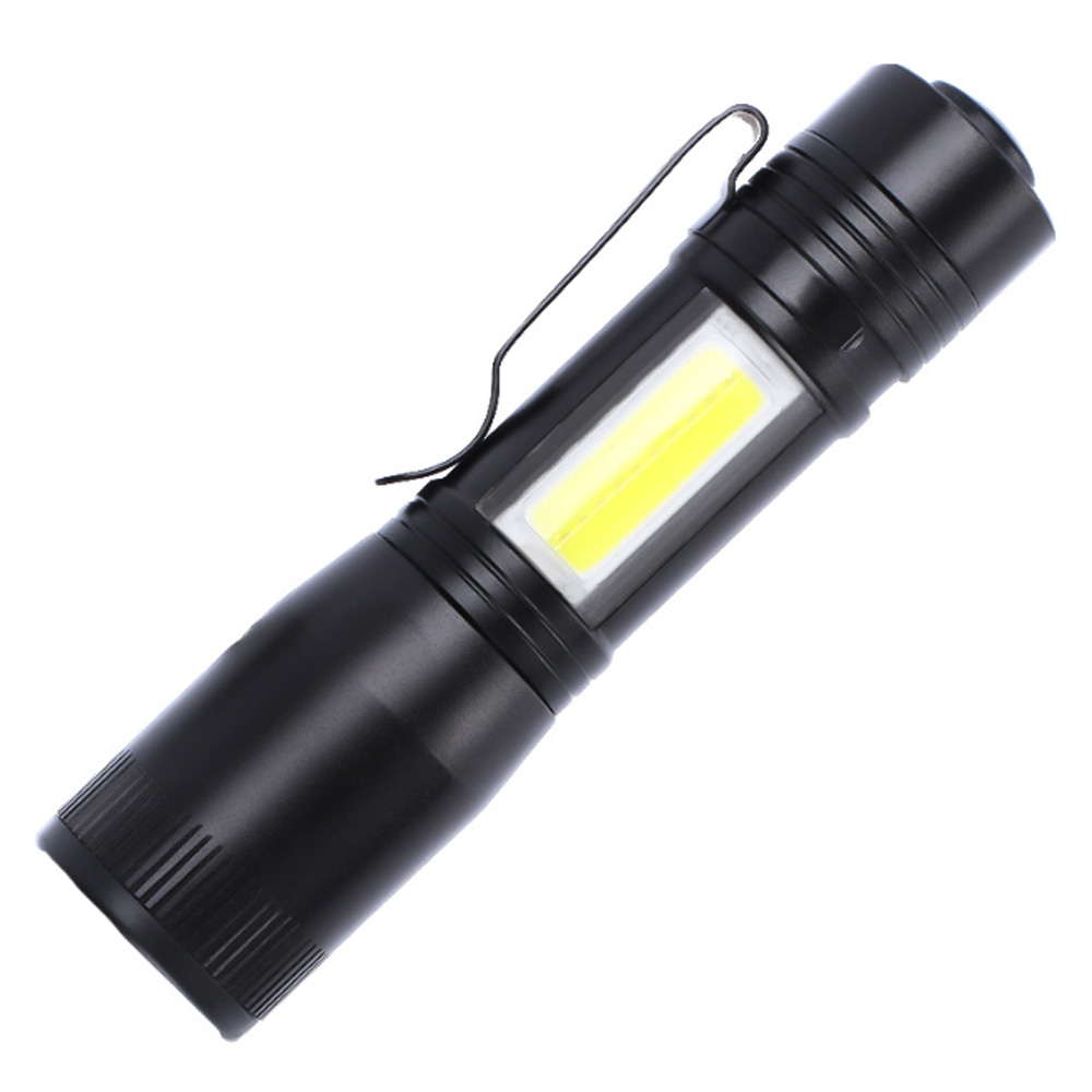 Waterproof Led Flashlight Q5 2000lm 3 Modes Zoomable Self Defense No Tazer Shock Mini Flash Light Torch Pen Light Lights Lanterns