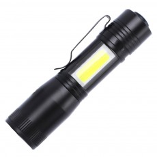Mini Flash Torch for Outdoor Lighting LED Strong Light AA Battery Q5 Zooming Pen Clip COB Working Light Sidelight Flashlight