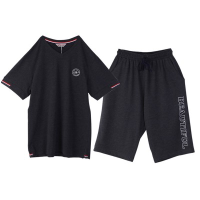 Pajamas Set for Men, Short Sleeve Pajama for Summer, Cotton Homewear Set, Comfortable Sleepwear Set