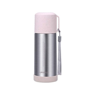 Wheat Straw Stainless Steel Thermos Cup, Student Simple Portable Water Cup, Female Fresh Literary Water Bottle