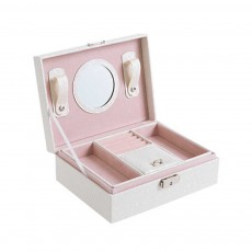 Double-layer Jewel Box for Jewelries of Ear Rings Small Size Ear Studs Jewelry Case for Necklace Finger Rings PU-made Jewelry Storage Box