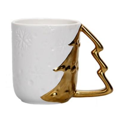 Ceramic Mug Cup with Glaze for Tea, Milk, Coffee, Water, Decoration Cup for Christmas, Festivals, Cartoon Water Mug