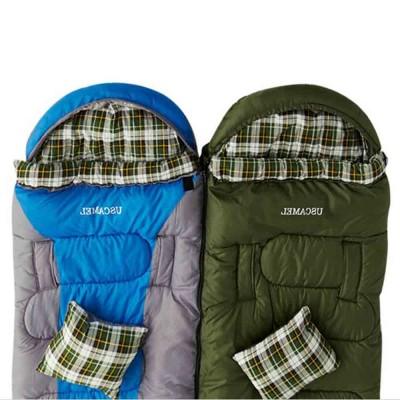 Outdoor Waterproof Sleeping Bag, Lightweight Flannel Warm Sleeping Bag for Travel 4 Seasons