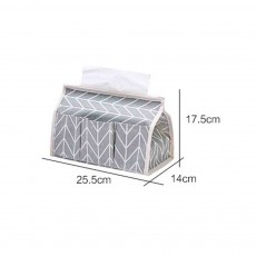 Cotton Linen Paper Towel Box, Garden Wind Multifunctional Paper Towel Storage Container, with Waterproof Layer Design