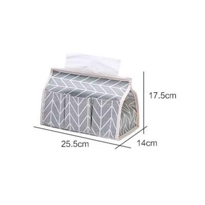 Cotton Linen Paper Towel Box, Garden Wind Multifunctional Paper Towel Storage Container, with Waterproof Layer Design